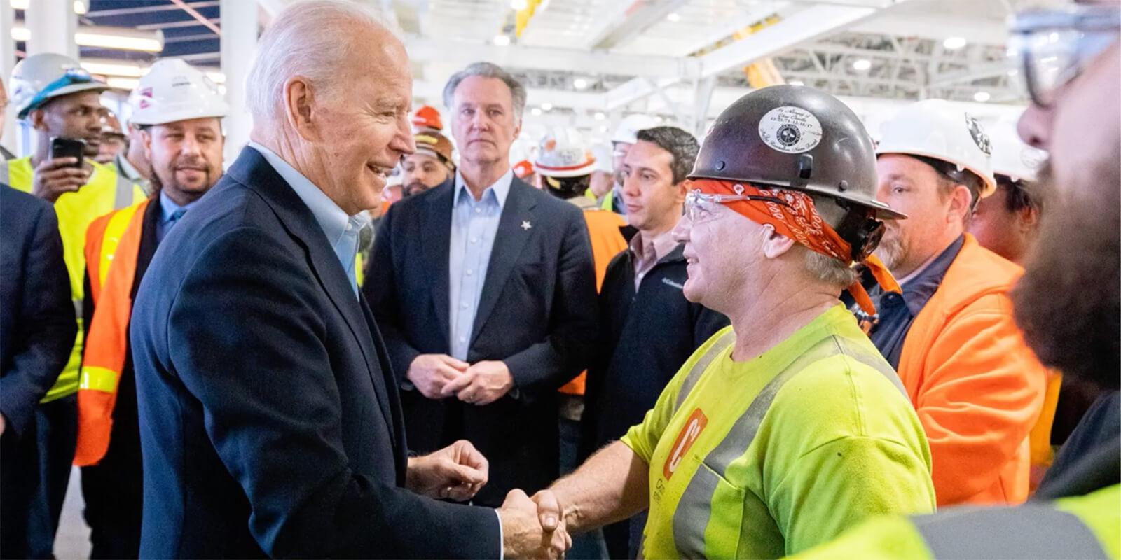Joe Biden and workers
